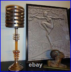 0846 G. F. Flash Gordon Art Deco Machine Age 1936 Rocket Ship Lamp