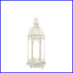 10 lot White 16 distressed Candle holder Lantern Lamp wedding table centerpiece