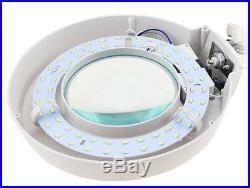 110V 20X Magnifier LED Lamp Light Magnifying White Glass Lens Desk Table