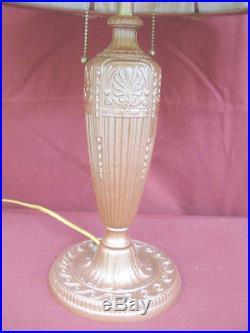 1920s ART NOUVEAU SLAG GLASS LAMP