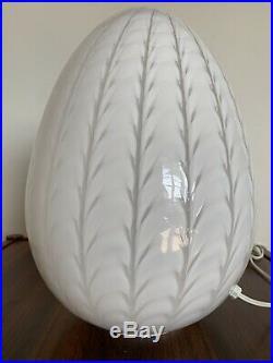 1970s Maestri Murano Egg Glass Table Lamp