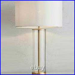 2 PACK Touch Dimmable Table Lamp Gold, Glass & White ShadeModern Bedside Light