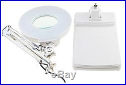 20X Loupes Glass Lens Diopter Desk Table Lighting LED Magnifier Lamp Light