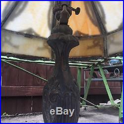 21 GLASS SHADE WHITE 16 PANEL GLASS P H SLAG LAMP MARBLE POUL HENNINGSON Beige