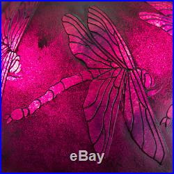 24 Etched Purple Dragonfly Table Lamp #10324 Tiffany Decor