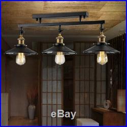 3 Light Black Island Hanging Pendant Table Lamp Ceiling Fixture Lighting Kitchen