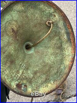 317B 171P Antique Signed Bradley Hubbard B&H table lamp leaded slag glass
