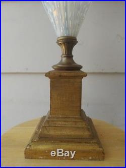 50's Murano Glass Table Lamp Barovier & Toso Vintage Made In Italy