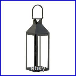 6 Large 15 tall BLACK Candle holder Lantern light wedding table centerpieces