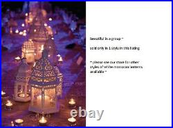 6 White Moroccan 12 shabby Candle holder lantern lamp wedding table centerpiece