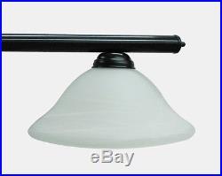 72 Black Metal Pool Table Light Billiard lamp W White Glass Shades