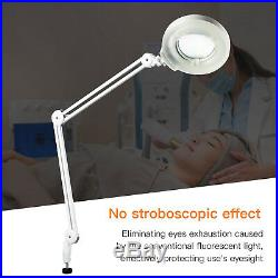 8X Diopter Adjustable Magnifying Lamp Desk Clamp Magnifier Glass Light Lens