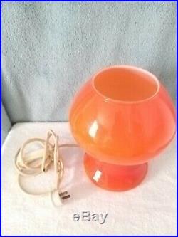 A PROVA 1970s RETRO VINTAGE ITALIAN STUDIO ART GLASS TABLE LAMP (2621)