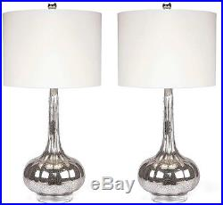 Abbyson LIving Mercury Antiqued Glass Table Lamp (Set Of 2)