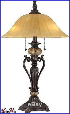 Accent Antique Table Lamp Desk Light Bedside Side Nightstand Bedroom Shade