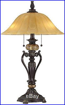 Accent Antique Table Lamp Desk Light Bedside Side Nightstand Bedroom Shade New