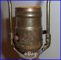 Aladdin Alacite Glass Lamp G-234 Pheasant w Finial Uranium Green Glow