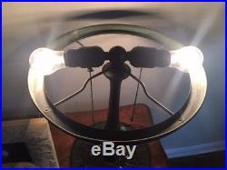 American Bent Glass Shade/ Leaded Lamp, (Poss. Suess), J A Whaley, Handel Era