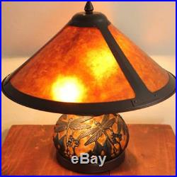 Americana Mica Dragonfly Table Lamp Handcrafted 17 Shade
