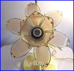 Anthony California 37 snake lamp flower pedals glass brass table or floor lamp