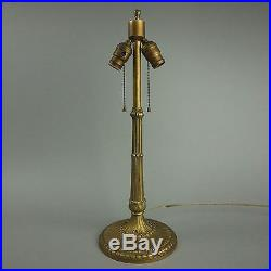 Antique Arts and Crafts Slag Glass Table Lamp