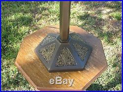 Antique B&h Slag Glass Lamp