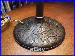 Antique Bradley & Hubbard Bent Slag Glass Lamp Miller Pittsburgh Rainaud Styles