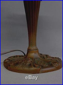 Antique Caramel Slag Glass TABLE LAMP, aka a vintage light
