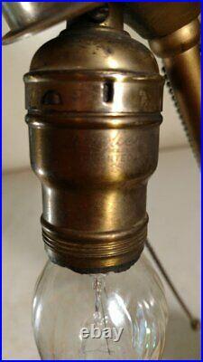 Antique Chicago Lamp Base for slag/leaded glass marked 1907 Handel Era