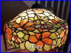 Antique Leaded Glass Table Lamp By Unique