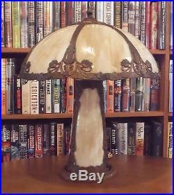 Antique Salem Brothers Bent Slag Glass Lamp Miller Bradley & Hubbard Styles