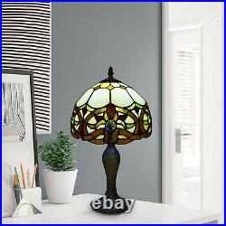 Antique Tiffany Style Lamp Stained Glass Desk Table Bedside Hand Crafted Shade