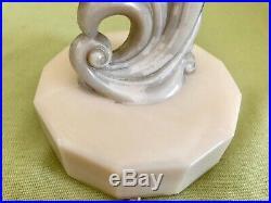 Antique Vintage Aladdin Alacite Glass Electric Lamp Original Shade & Finial