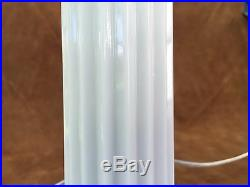 Antique art deco table lamp accent milk glass mid century modern bullet lamp