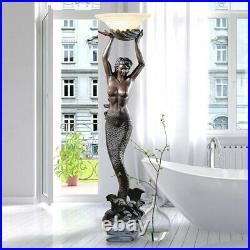 Antiqye Style Greek Goddess Offering Mermaid 73 Sculptural Floor Lamp