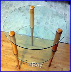 Art Deco Gilbert Rohde for Herman Miller 2 Tier Glass Lamp Table