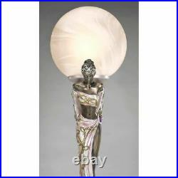 Art Deco Style Twin Maidens Sculpture Table Lamp By By Artist Erte