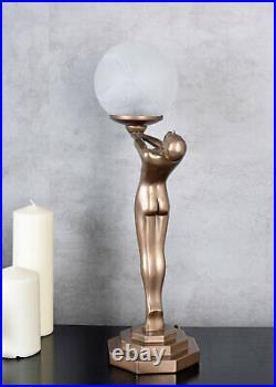 Art Deco table lamp women sculpture female erotic Bauhaus Art Nouveau figure new