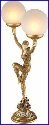 Art Nouveau Dancer of Kapathurl 28 Sculpture Lamp By Artist Demetre Chiparus