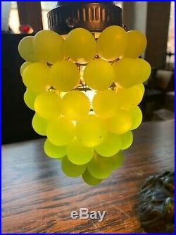 Art Nouveau Style Glass Grapes Table Lamp
