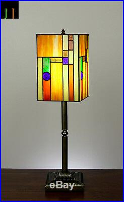 Artwork Tiffany Lantern Stained Glass Bedside Side Table Desk Lamp Light Deco