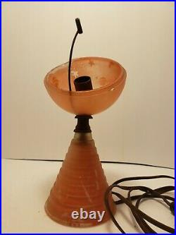 Authentic Antique 1939 World's Fair Collectible Saturn Lamp Houze Glass Works
