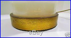 Baluster Form White Opaline Glass Lamps Paul Hanson Signed Neoclassical VTG