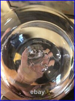 Beautiful Simon Pearce Art Clear Glass Table Lamp Light Signed 18