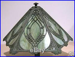 Bradley & Hubbard Arts & Crafts Slag Glass Table Lamp