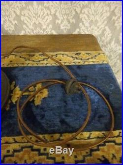Bradley & Hubbard Slag glass Lamp Handel Tiffany Empire Miller arts crafts era