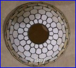 Bradley & Hubbard leaded glass lamp- Handel Tiffany Duffner arts craft era slag