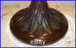 C. 20's Antique Suess Apple Blossom Leaded Glass Lamp Duffner Handel Era