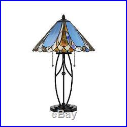 Cal Lighting 60W X 2 Tiffany Table Lamp