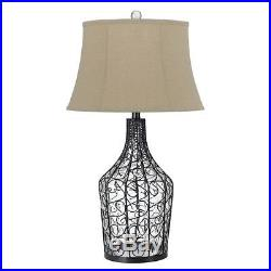 Cal Lighting BO-2458TB 150W 3 Way Palestine Glass Table Lamp